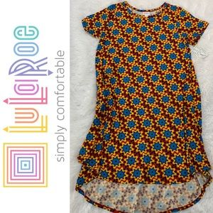 LuLaRoe Carly High Low Dress Sz Large